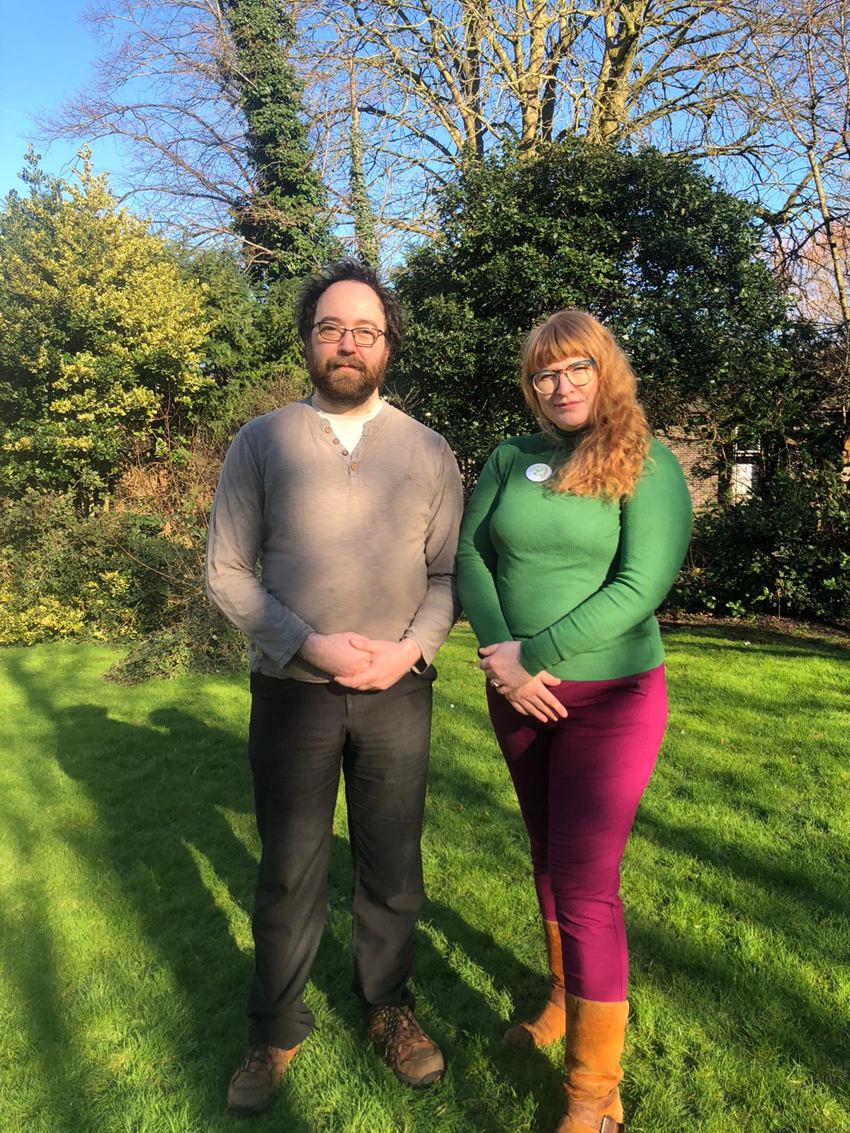 Ani and Simon Stafford Smith standing in a green space